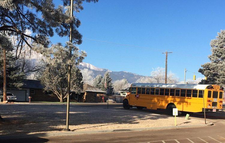 Voor mijn school bus duty Colorado