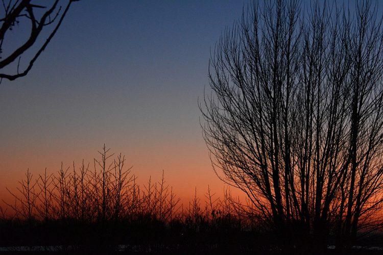 zonsondergang tiny house Groede