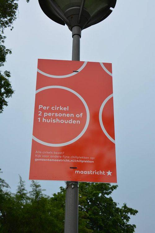 coronabord park Maastricht