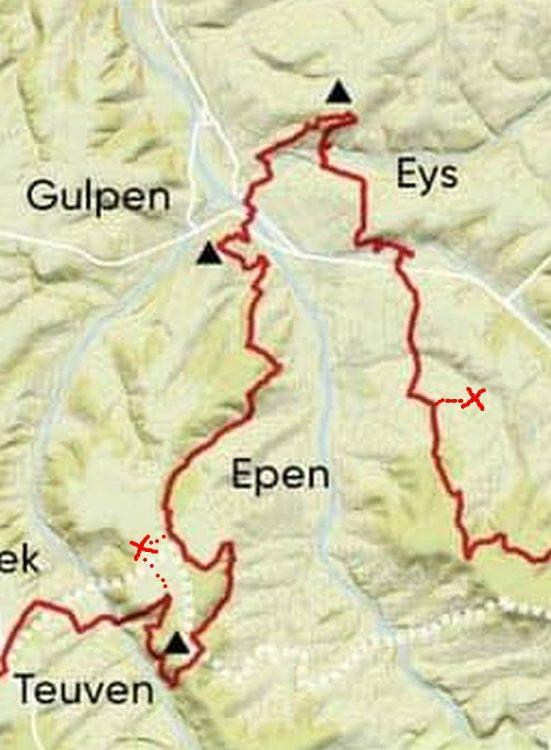 kaartje Dutch Mountain Trail etappe 3 Routekaart en summits