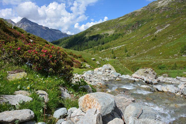 bij de Splugenpas Zwitserland
