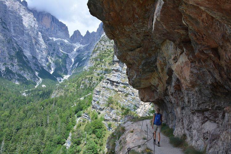 "hike naar Refugio Croz de""ll Altissimo"