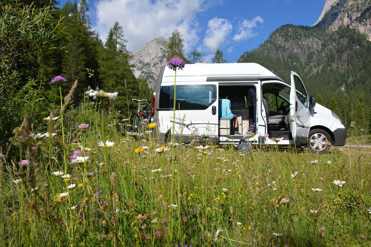 met de camper naar Noord Italië