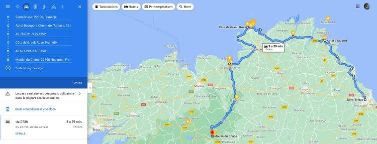 camper en autoroute Bretagne Frankrijk