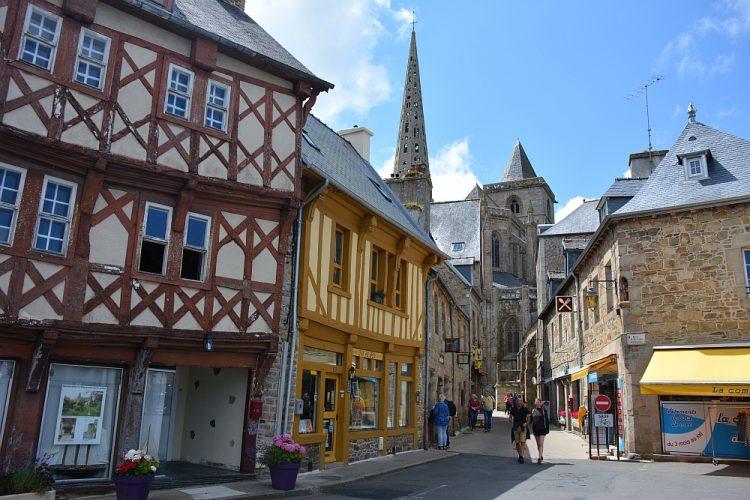 historisch centrum Tréguir in Bretagne
