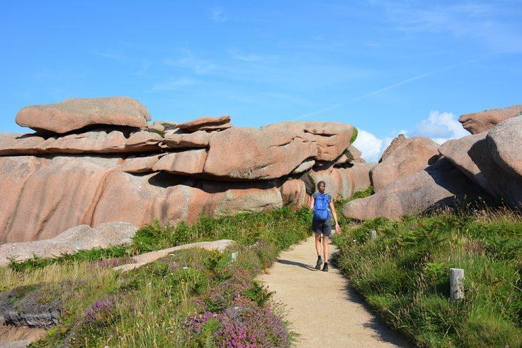 wandelen bij de Côte de Granit Rose Bretagne